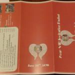 Concert Themed Wedding- Concert Packet Invitation Set Back