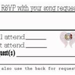 Concert Themed Wedding- Music Voucher RSVP Card