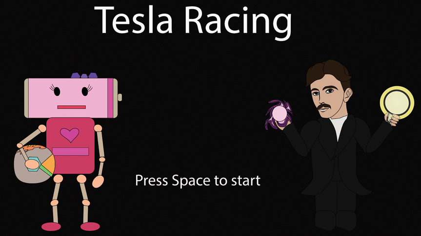 Tesla Racing Splash Screen