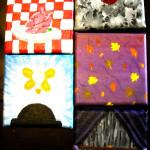 5 Words Painting-Cardiac, Minority, Inspiration, Swept, Dismal