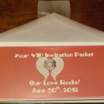 Concert Themed Wedding- Concert Packet Invitation Set Front
