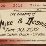 Concert Themed Wedding- Ticket Invitation