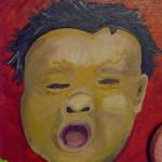 Devastation Found Object Painting- close