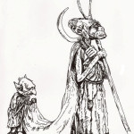 Ink Illustration  from the book Faeries by Brian Froud