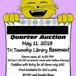Quarter Auction advertisement for nonprofit