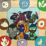 Skylanders Collage Quilt