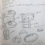 Space Room Original Sketches